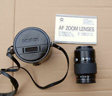 Minolta AF Zoom 100 - 300 mm f 4.5 - 5.6 auto focus Maxxum case filter manual