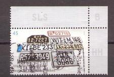 2006 Bund 2551 Kfz-Kennzeichen gestempelt Ecke oben rechts EOR