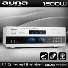 AUNA 5.1 SURROUND HIFI RECEIVER VOLLVERSTÄRKER DJ PA KARAOKE AMPLIFIER AMP 1200W