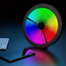 Chromatic 60 LED Groovy Multi Color Spectrum Wall Tabletop Clock 6 Modes USB AC