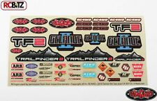 RC4WD Logo Decal Sheet Logo Emblem Sign Sticker TF2 G2 ARB Warn InterCo Z-S1274