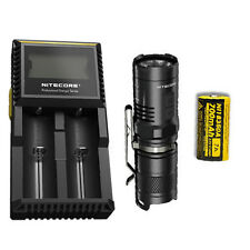 Combo: Nitecore MT10C Tactical Flashlight w/IMR 7A Battery & Nitecore D2 Charger