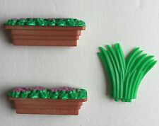 Calico Critters COUNTRY TREE HOUSE Replacement Grass and Window Flower Boxes