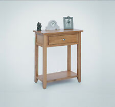 SOLID OAK SMALL TELEPHONE LAMP HALL CONSOLE TABLE UNIT