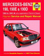 3450 Haynes Mercedes-Benz 190, 190E & 190D (1983 - 1993) A to L Workshop Manual