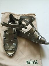 Melissa Jelly Gladiator Sandals Wedges Size 5, 35-36