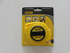 Stanley 15m/50' Tape Measure ABS Case Polymer Coated 3/8'' Steel Blade 34-104