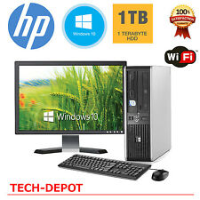 "HP Desktop PC Computer Windows 10 Core 2 Duo 19"" Monitor 8GB Ram 1TB HD WiFi"