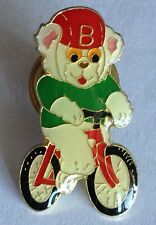 Bike Riding Bear Pin Badge Bicycle Cyclist Collectable (E7)