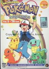 POKEMON INDIGO LEAGUE - COMPLETE TV SERIES 1-79 EPS BOX SET (ENG SUBS)