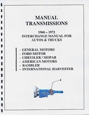 STICKSHIFT TRANS INTERCHANGE MANUAL 60 61 62 63 64 65 66 67 68 69 70 71 72