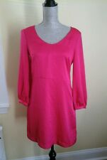 BEAUTIFUL H&M CONSCIOUS COLLECTION WOMAN'S DRESS FUCSIA SIZE 8 GREAT CONDITION