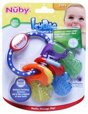 NUBY   ICY BITE KEYS COMFORTER TEETHER TOY  CAN BE CHILLED  3m+   BPA FREE