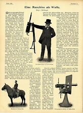 Erfindung d.Amerikaners Hiram Maxim Tandem Dreirad mit Maximgeschützen u.a.1899
