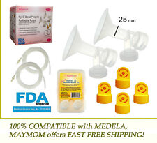 Pump Accessories Kit for MEDELA 25 mm Breast Shield , Tubing , Membranes & Valve