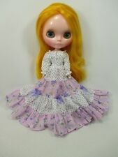 Blythe Outfit Handcrafted long sleeve dress basaak doll # 790-72
