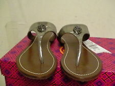 Women tory burch slippers pewter silver size 6 us
