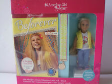 AMERICAN GIRL JULIE MINI DOLL & PERSONALIZED STAND ,3 BOOK COLLECTION, BOOKMARK