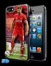 Steven Gerrard 3D IPHONE 5 o 5S Custodia Rigida Ufficiale Liverpool Merce Nuova