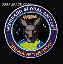 ORIGINAL WGS 4 - WIDEBAND GLOBAL SATCOM - BEWARE THE ROO - USAF SATELLITE PATCH