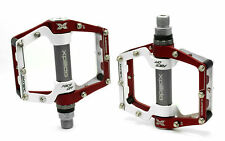 "Red/White New Wellgo XPEDO MX18AC MTB/ Mountain Bike Pedals 9/16"" Multi-Color"