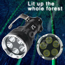 9000Lm 5x CREE T6 LED Flashlight Torch Lamp Light + 4x 18650 Battery + Charger