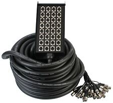 Pulse XLR Stage Multicore Box 24 Sends 8 returns 30m Length Touring Grade Snake