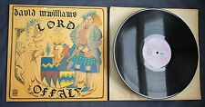 DAVID McWILLIAMS LORD OFFALY - RARE 1972 UK DAWN DNLS3039 GATEFOLD PROG FOLK LP