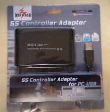 Sega Saturn Wired Controller Adapter USB PC Computer Brand New Mayflash