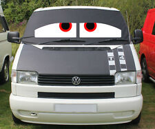 VW T4 Window Camper Van Front Screen Curtain Wrap Cover Sleepy Eyes Transporter