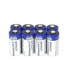8pcs 1500mAh Lithium CR123A 3V Photo Battery EL123A CR17345,more than Energizer
