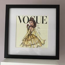 Disney Vogue Princess Framed Wall Art Picture Print 30x30cm - Beauty & the beast