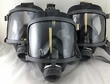 Scott/SEA Domestic Prep Front Port 40mm NATO NBC Lot of 3 Gas Mask Open Box
