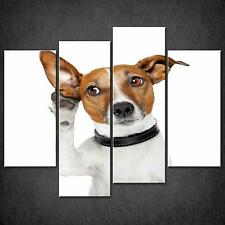 DOG LISTENING SPLIT CANVAS WALL ART PICTURES PRINTS LARGER SIZES AVAILABLE