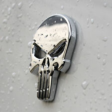 THE Punisher Chrome 3D skull Skeleton Car Motorcycle body Badge Emblem Sticker