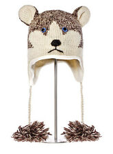 SIBERIAN HUSKY HAT huskies SKI CAP animal sled dog costume ADULT knit LND deLux