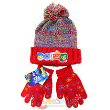 Disney Insideout Beanie Knitted Cuff Hat Gloves Set Red Youth Joy Sadness Anger