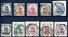 Wttbg 1916 241-250 timbrato esaminato inaspri Winkler BPP € 160 (d4744