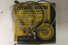 NOS Stewart-Warner 106-65 Speedometer Cable & Casing / Chrysler-Ford 1930s
