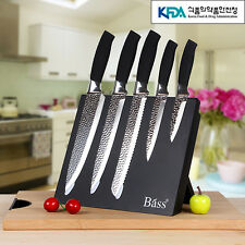 5P non-stick kitchen knife set Bread Fruit cook Knives Chef magnet block Stain D