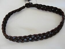 NWT $78 Polo Ralph Lauren Brown Braided Leather Bracelet Wrist Band