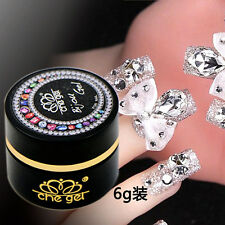 6G Nail Art Decorations Jewelry Gems Adhesive Glue UV LED Soak Off Che Gel