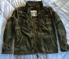ABERCROMBIE AND FITCH Men's Camouflage Military Jacket A&F Size L FREE SHIPPING