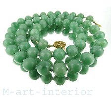 alte Jade Collier Jahre Halskette 76cm #6 nephrite china necklace 124g vintage