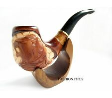 Mode sculpté LION tabac à pipe, pipe / Pipes fumeurs exclusifs Pipes en bois