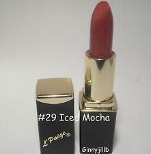 L'Paige Lipstick #29 Iced Mocha Longlasting Moisturizing Hypoallergenic Aloe