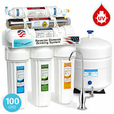 6-Stage 100 GPD UV Ultra Violet Sterilizer Reverse Osmosis RO Water System