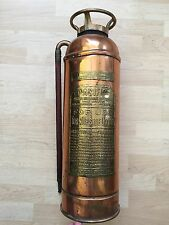 Antique Vtg General Pacific Brass Copper Quick Aid Fire Extinguisher Steampunk
