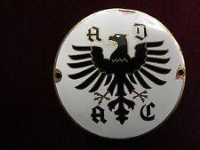 Ancienne voiture plaque ADAC vintage enamel car badge emblème autoplakette émaillé