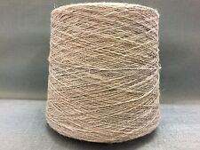 QUALITY YARN CONE 2 PLY 50% / 50% LINEN / COTTON LIGHT BROWN COLOUR 950g 19BALLS